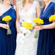 bouquet, bridesmaid dress, wedding dress, yellow