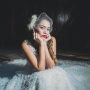 veil, wedding dress, headpiece