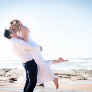 beach, kiss