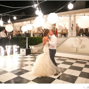 dance floor, lantern, wedding dress
