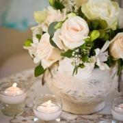 candles, centrepiece, flowers