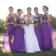 bridesmaid dress, purple