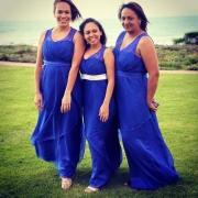 bridesmaid dress, blue
