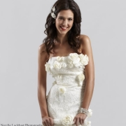 accessories, wedding dress, white, hairstyle