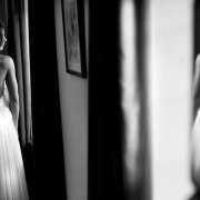 black and white photography, wedding dress