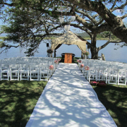 outdoor ceremony, wedding isle, gazebo, safari