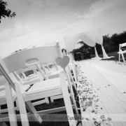 black and white, gazebo, wedding isle
