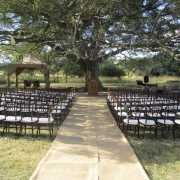 gazebo, outdoor ceremony, wedding isle, safari