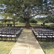 gazebo, outdoor ceremony, wedding isle, safari