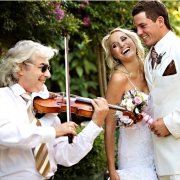 bride and groom, music