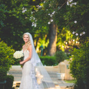 bouquet, bride, dress, veil