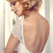 lace wedding dress, open back wedding dress, wedding dress, white