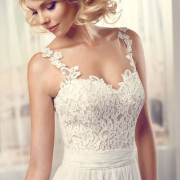wedding dress, white, embroided dress