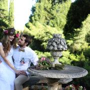 bouquet, bride and groom, headpiece