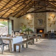 dining hall, fireplace, safari