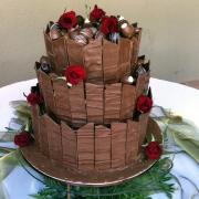 3 tier cake, chocolate, chocolate balls, three tier cake