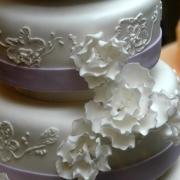 4 tier cake, four tier cake, purple, white