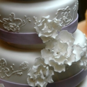 4 tier cake, four tier cake, purple, white