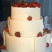 3 tier cake, chocolate, strawberries, three tier cake, white