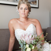 bouquet, hairstyle, makeup
