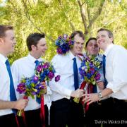 bouquet, flowers, groomsmen