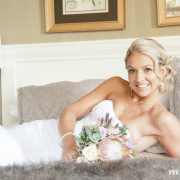 bouquet, hairstyle, makeup, protea