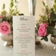 flowers, menu