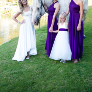 bridesmaid dress, flower girls, horse, wedding dress