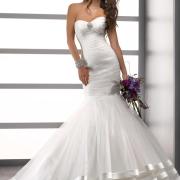 bouquet, mermaid, wedding dress