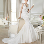 wedding dress, mermaid