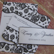 black and white, pattern, wedding invitation, wedding stationery
