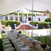 decor, marquee, outdoor reception, table setting