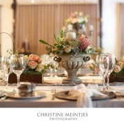 decor, flowers, peach, roses, table setting