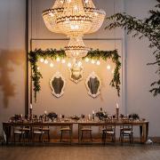 chandelier, table
