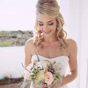 bouquet, hair, makeup