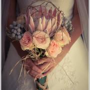bouquet, protea, roses
