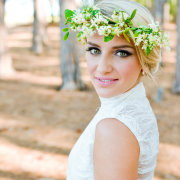 flower crown, headpiece, makeup