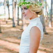 flower crown, hair, headpiece, make