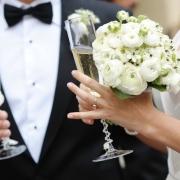 bouquet, champagne