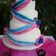 4 tier cake, four tier cake, white