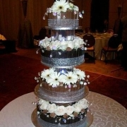 4 tier cake, brown, chocolate, four tier cake