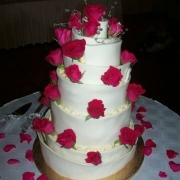 5 tier cake, five tier cake, roses, white