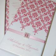 pattern, pink, wedding invitation, wedding stationery