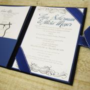 navy blue, wedding invitation, wedding stationery