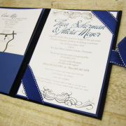 navy blue, wedding invitation, wedding stationery