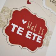 red, wedding stationery, menu