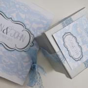 baby blue, silver, wedding favour, wedding invitation, wedding stationery