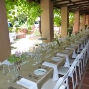 outside reception, wedding venue