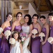 bridesmaids dresses, purple