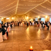 dance floor, draping, reception, venue, wedding venue